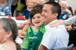 Families having fun at First Unitarian